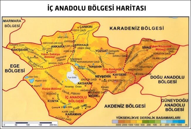 İç Anadolu Bölgesi Özellikleri