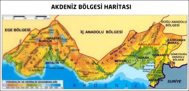 Akdeniz Bölgesi Özellikleri