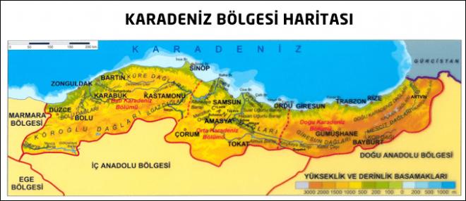 Karadeniz Bölgesi Özellikleri