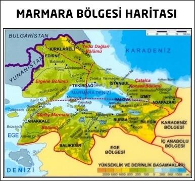 Marmara Bölgesi Özellikleri